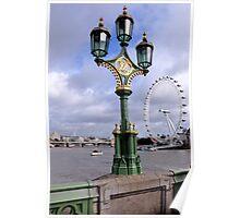 Lights on Westminster Bridge, London Poster