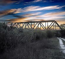 Amazing Sky Over the Railway Bridge by robertpatrick