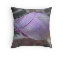 Tight-Lipped Mauve Beauty Throw Pillow