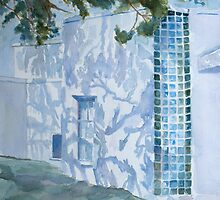 Shadows Glass and Leaves by JennyArmitage