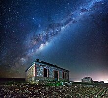 Burra North Ruin and Galaxy by pablosvista2
