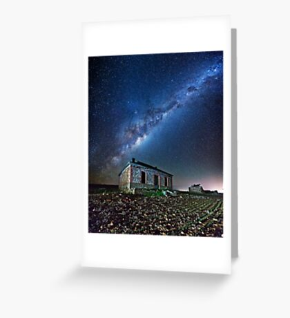 Burra North Ruin and Galaxy Greeting Card