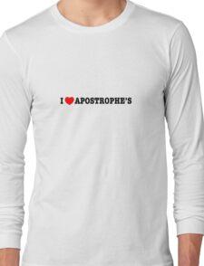 Apostrophilia Long Sleeve T-Shirt