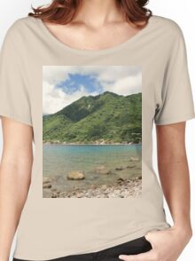 a desolate Dominica landscape Women's Relaxed Fit T-Shirt