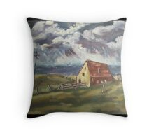 Fisherman's Cottage by Peter the Red Throw Pillow