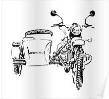 Sidecar motorcycle Poster