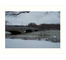frigid bridge Art Print