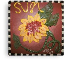 Ceramic Sunflower Canvas Print