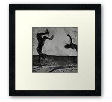 Flips in the Air Framed Print