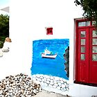 The Mural, Katsadia, Lipsi, Greece by Mary Canning