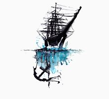 Rigged Sail Ship Watercolor Unisex T-Shirt