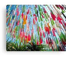 Coloured Ribbons Canvas Print