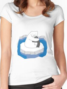 Polar Bear Hug Women's Fitted Scoop T-Shirt