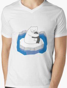 Polar Bear Hug Mens V-Neck T-Shirt