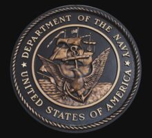 US Navy Emblem T-Shirt by Karl R. Martin