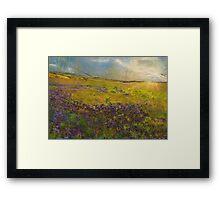 Lavender Hills Framed Print