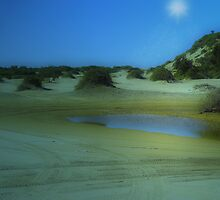 Time travel - Birubi Beach by Rosalie Dale