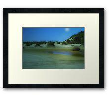 Time travel - Birubi Beach Framed Print