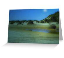 Time travel - Birubi Beach Greeting Card