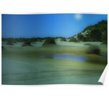 Time travel - Birubi Beach Poster