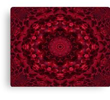Kalediscope:  Red Berry Compote Canvas Print