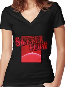 red sf... Women's Fitted V-Neck T-Shirt
