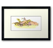 Yellow Anaconda Framed Print
