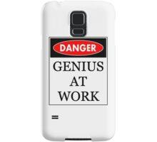 Danger - Genius at work Samsung Galaxy Case/Skin