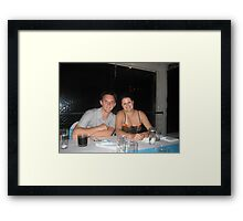 Chris and Stacey Framed Print