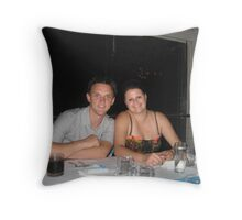 Chris and Stacey Throw Pillow