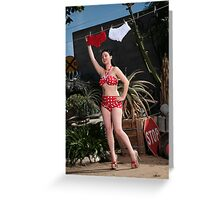 Laundry Girl Greeting Card