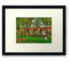 Seated In Time - The Red Bridge Campbelltown (C1838)Tasmania, Australia - The HDR Experience Framed Print
