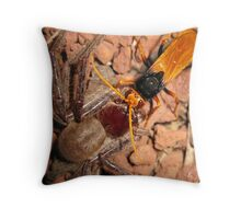 Bug Battle Throw Pillow
