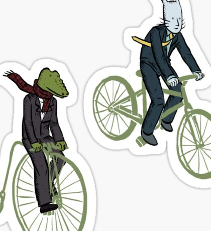 Cycling Rabite and Croco Sticker