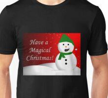 Snowman Greeting Unisex T-Shirt