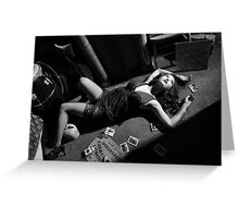 Lounging with the Ouija board Greeting Card