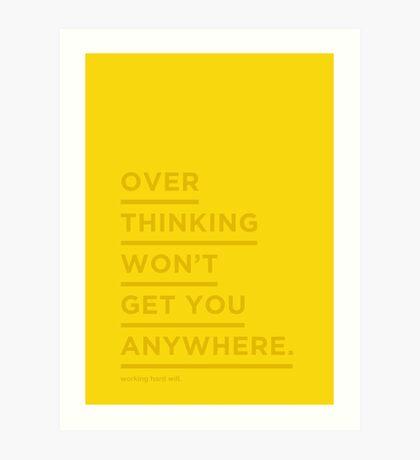 Overthinking. Art Print
