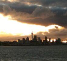 Auckland Cityscape at twilight Sticker
