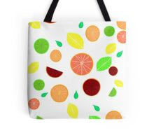 Colorful citrus background (White) Tote Bag