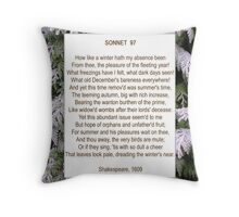 Shakespeare's Sonnet 97, especially good as a card. Throw Pillow