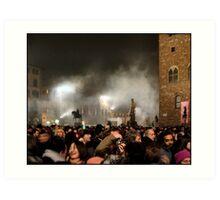New Year, Piazza della Signoria, Florence 2005 Art Print