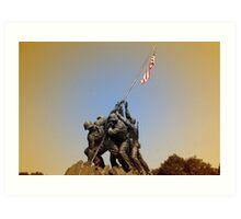 War Momument Memorial Art Print