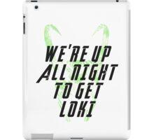 We're up all night to get LOKI white iPad Case/Skin