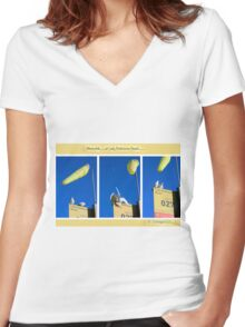 The locals of Lady Robinsons Beach  Women's Fitted V-Neck T-Shirt