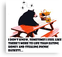 Bear - More to life Canvas Print