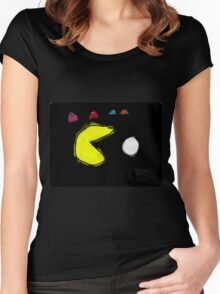 Pac-Man and the Ghosts  Women's Fitted Scoop T-Shirt