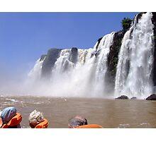 What a Thrill....Iguassu Falls, South America Photographic Print