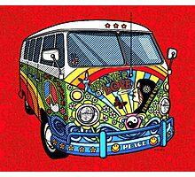 Vw Hippy Bus Photographic Print