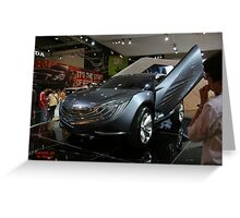 mazda concept car Greeting Card