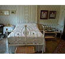 Hope Cottage Museum - Bed Photographic Print